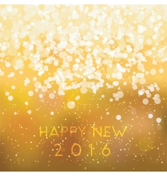 Abstract blurred gold card happy new 2016 vector