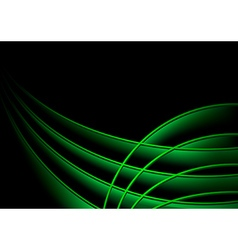 Background with Green 3D Layers vector image vector image