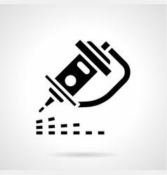cnc laser engraver glyph style icon vector image vector image