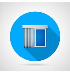 Flat icon for window with vertical louvers vector