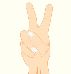 gesture two fingers vector image