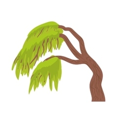 Weeping willow icon in cartoon style vector image vector image