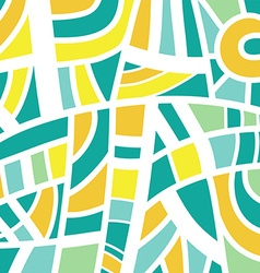 Abstract background design in green and yellow vector image