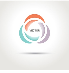 Abstract creative logo template vector image