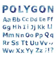 Alphabet Polygonal font set vector
