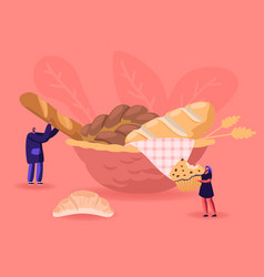 bakery flour products sweet food concept tiny vector image