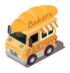 Bakery machine icon isometric style vector