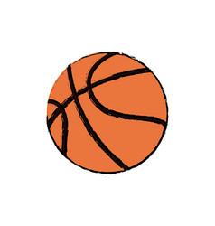 Basketball ball sport competition element vector