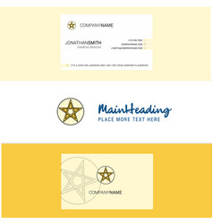 beautiful star logo and business card vertical vector image