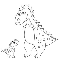 Black and White Dinosaurs vector image