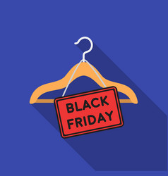 black friday sale icon in flat style isolated on vector image