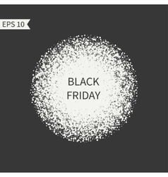 Black Friday sale sign Black and white design vector