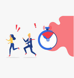 business deadline time management control vector image