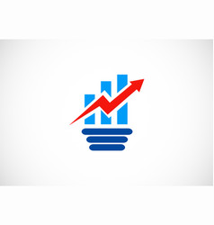 business finance arrow logo vector image