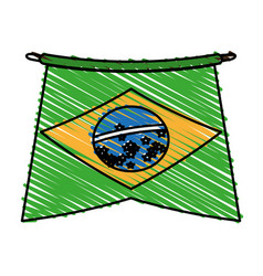 Carnival brazil flat vector