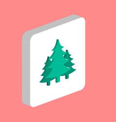 Christmas spruce computer symbol vector