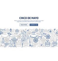 cinco de mayo banner design vector image