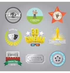 Cinema labels collection vector image