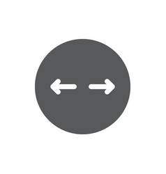 Circle diameter icon symbol education isolated on vector