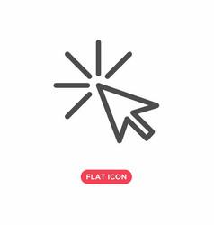 Click icon cursor symbol flat vector