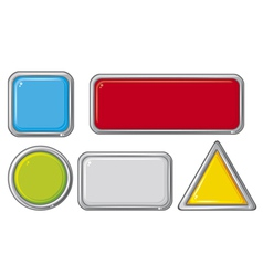 Collection of five buttons vector