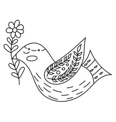 Coloring book or pages for adults vector
