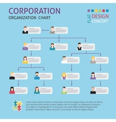 Corporate structure set vector