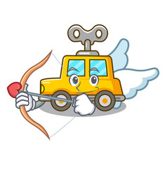 Cupid character clockwork car for toy children vector