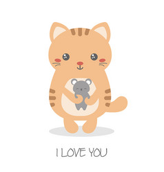 cute cats of cute cats vector image