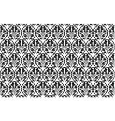 Damask pattern black damask pattern vector