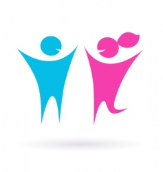 Dating love and couple icon vector