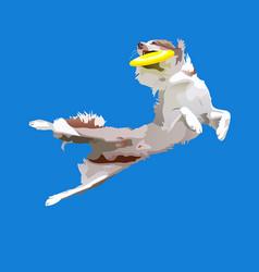 Dog-frisbee4 vector