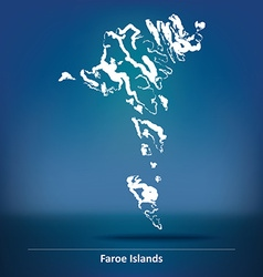 Doodle Map of Faroe Islands vector image