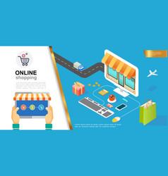 e-commerce colorful concept vector image