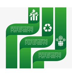ecology infographics vector image vector image