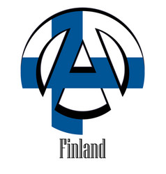 flag of finland of the world in the form of a vector image