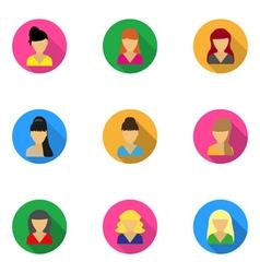 Flat icons templates women vector