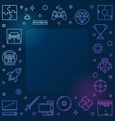 games concept colorful outline frame - game vector image