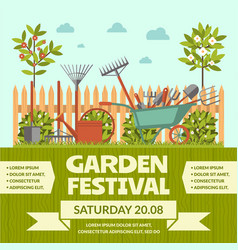 Garden festival colorful poster vector