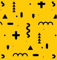 geometric elements flat pattern vector image