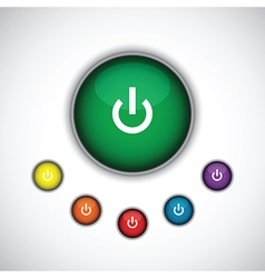 green on button vector image