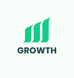 Growth logo vector