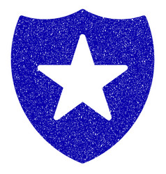 Guard shield icon grunge watermark vector