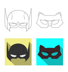 Hero and mask logo vector