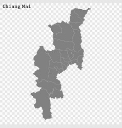 High quality map is a province thailand vector
