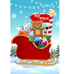 Holiday season toy drive vector