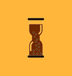 Hourglass with water watch vector