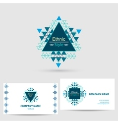 Icon with business card template vector