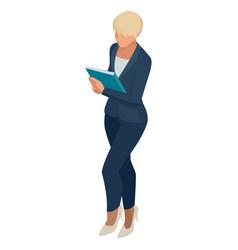 isometric business women stylish isolated on white vector image