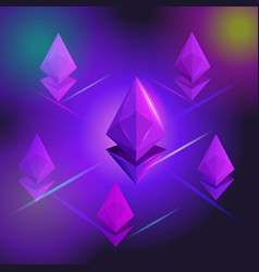 isometry the birth of the crypto currency ethereum vector image